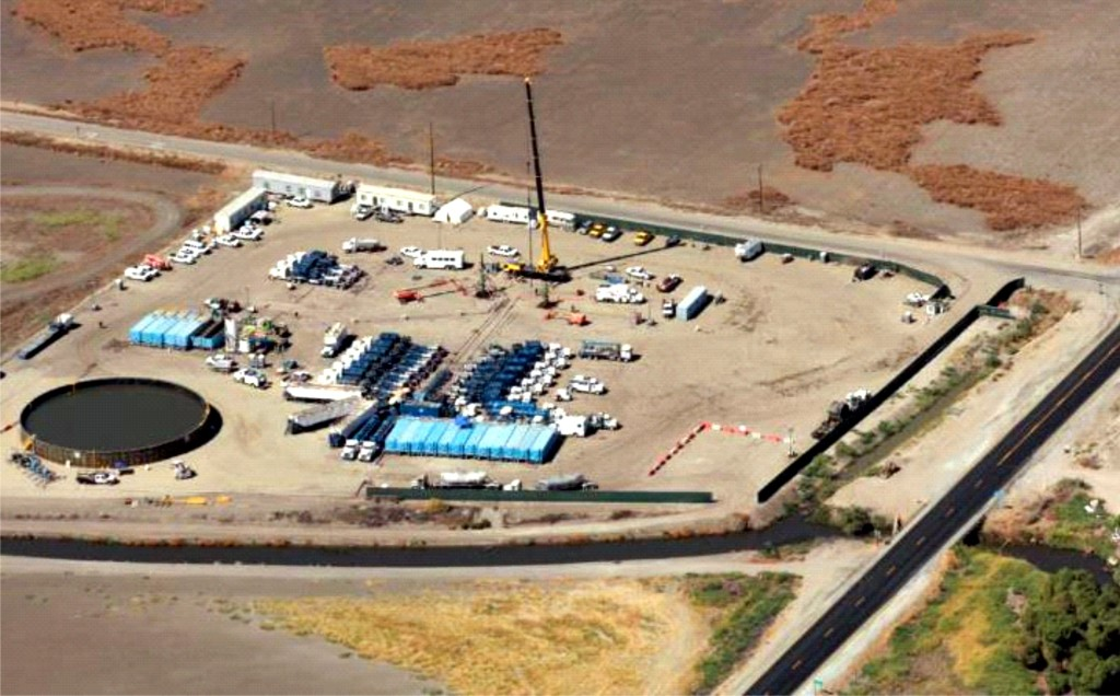 Typical Hydraulic Fracturing Operations at a Monterey Formation Exploration Site